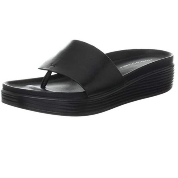 Donald J. Pliner Shoes - Donald J. Pliner Black Leather Fifi Sandal 9
